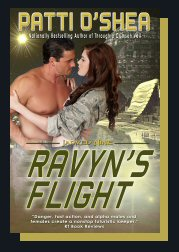 Cover of Ravyn's Flight Science Fiction Romance by Patti O'Shea